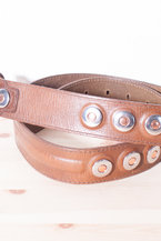 One of a kind two tones rivets belt